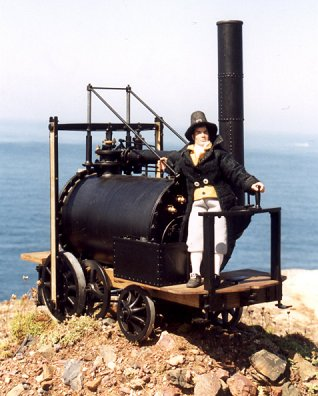 The world's first steam driven locomotive/car - invented by Cornishman Richard Trevithick.